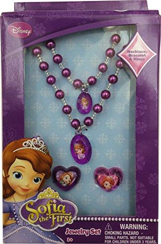 Set Gioielli della Principessa Sofia - Collana, braccialetto e 2 anelli della Disney