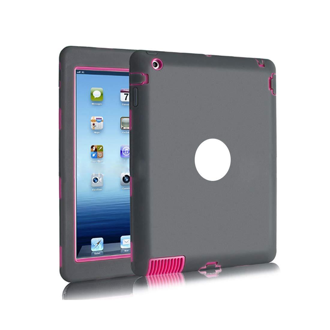 激安特価  KRPENRIO iPad 234ケース スリム耐衝撃シリコン保護ケースカバー 9.7-ネイビーブルー/グリーン 234ケース iPad/レッド (カラー:ダークグレー、サイズ:Ipad234) KRPENRIO B07L8D1VR2, カメラ虎の穴:68a10653 --- a0267596.xsph.ru