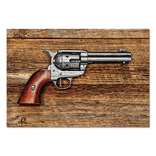Large Wall Mural Sticker [ Western,Old Style Revolver
