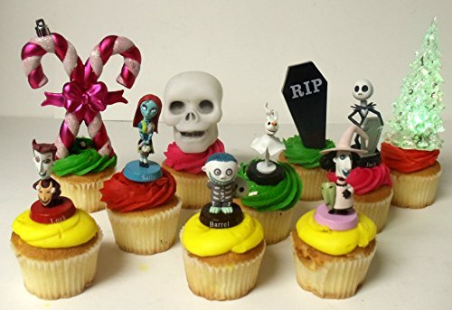 Nightmare Before Christmas 10 Piece Deluxe Cupcake Topper