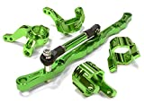 xr10 steering knuckle - Integy RC Model Hop-ups C26029GREEN Billet Machined Steering Knuckle, Caster Block & Linkage Set for Axial SCX-10
