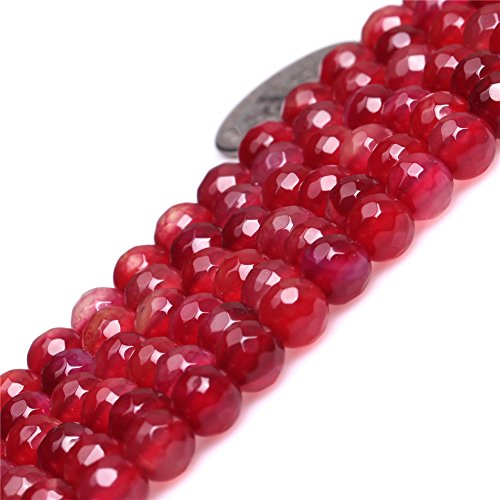 Semi Precious Stone Agate (Joe Foreman 6mm Agate Beads for Jewelry Making Natural Semi Precious Gemstone Round Faceted Plum Strand 15