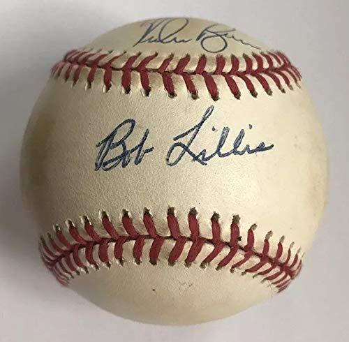 "NOLAN RYAN & BOB LILLIS DUAL AUTO AUTOGRAPH SIGNED ONL BASEBALL HOUSTON ASTROS""MY ASTROS MANAGER 1982 1986"" COA JSA HOF"