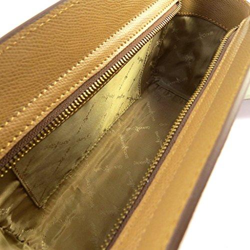 Bolsa de cuero 'Gianni Conti'camello - 28x17x7 cm.
