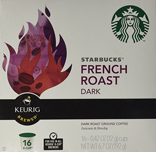 - Starbucks dark French Roast, K-Cup Portion Pack for Keurig K-Cup Brewers, 16-Count