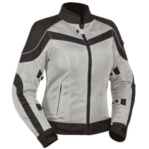 - BILT Women's Techno Mesh Motorcycle Jacket - XL, Black/Grey