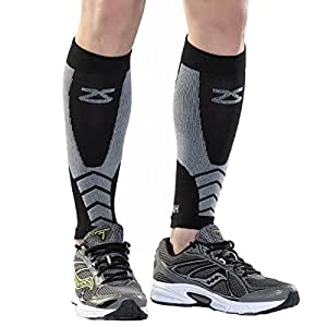 Zensah Fastwool Running Compression Leg Sleeve, Small, Black
