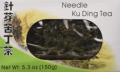 All Natural Chinese Needle Ku Ding (Kuding) Bitter Green Tea - Loose Tea Leaves Stick (5.3 Oz) - Only 3 Sticks Needed for a Cup of Tea! by Lucky Eight