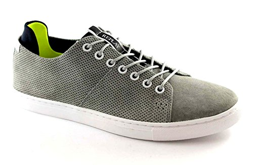 REPLAY RZ590003L DUNEDIN hombres grises zapatillas de deporte de los zapatos cordones de gamuza Grigio