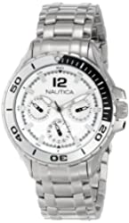 Nautica N21561M NST 02 Mid Classic Two-Tone Enamel Bezel Stainless Steel Watch