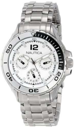 Nautica N21561M NST 02 Mid Classic Two-Tone Enamel Bezel Stainless Steel Watch