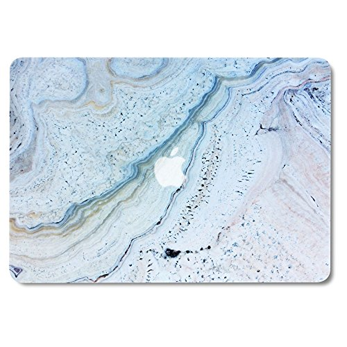 GMYLE Blue Stone Marble MacBook Air 13 inch case Soft-Touch Matte Plastic Scratch Guard Cover for MacBook Air 13 inch (Model: A1369 & A1466)