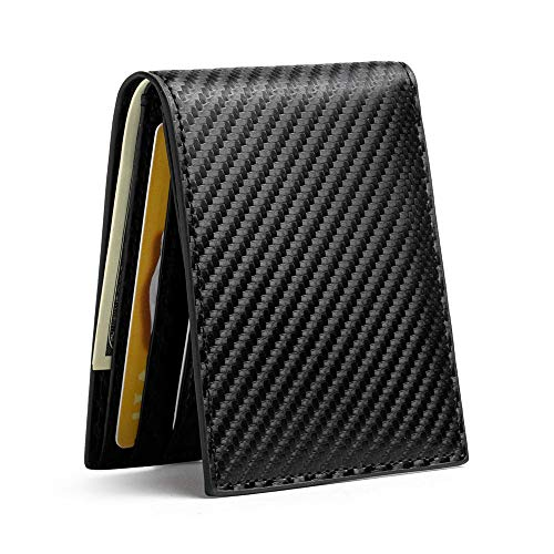 Slim Wallets for Men & Women RFID Blocking Card Holder Front Pocket Wallets with ID Window Credit Card Bifold Wallets