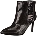 Nine West Women's Emilee Metallic Boot, Pewter/Black, 6.5 M US