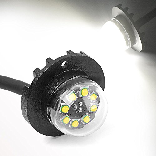 Surface Mount Hideaway Strobe Lights, YITAMOTOR White Hideaway Lights High Power 24W 8 Chipsets Emergency Vehicle Lights Bumper Lights - Hideaway Strobe