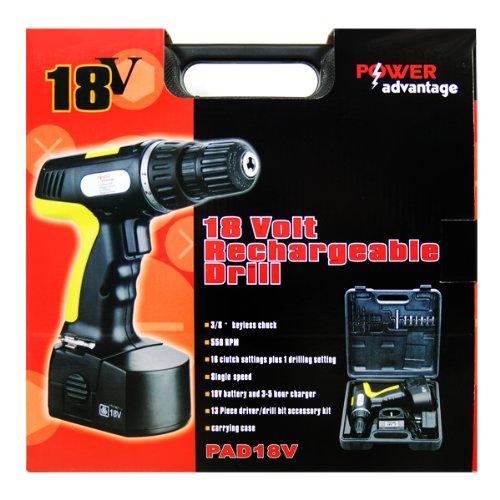 Power Advantage PAD3166 18V Rechargeable Drill