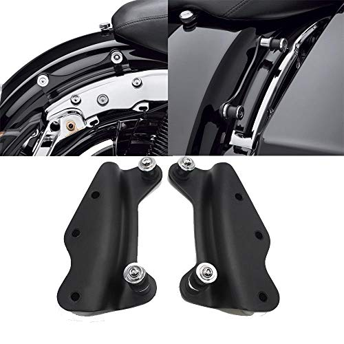 BBUT Black 4 Point Docking Hardware Kit for Harley Davidson Touring Road King Street Glide 2009 2010 2011 2012 2013