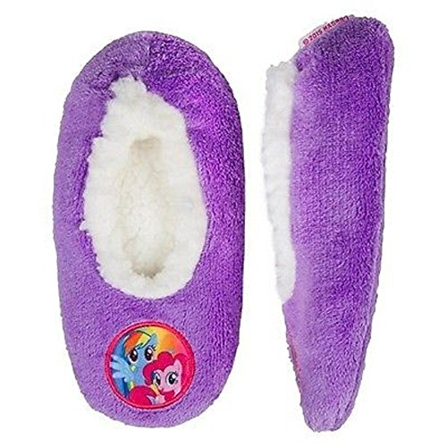243db995d60 Galleon - My Little Pony Girls Purple Fuzzy Fur Lined Slipper Socks Ponies  8-13