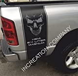 INCreation Company Compatible with 2002-2018 Dodge Dakota Rear Side Bed Black Decals, Vinyl Racing Stripes Stickers,Skull 6.4 L auto Graphics SRT Hellcat, Mopar, Hemi, Rebel RT