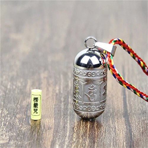 Feng Shui Tibet Om Mani Padme Hum Prayer Pendant Amulet ( With a Betterdecor Gift (Feng Shui Green Pendant)