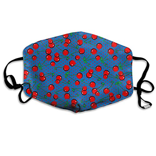 Mouth-Muffle Face Mask Unisex Cherry Adjustable Washable Anti-dust Woman Mens