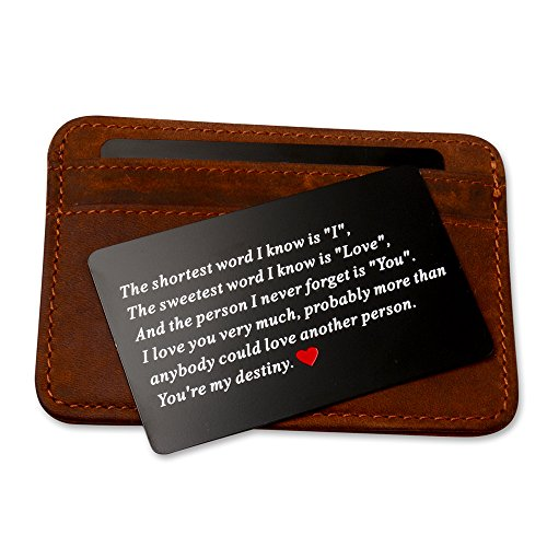 Vanfeis Metal Engraved Wallet Insert Card