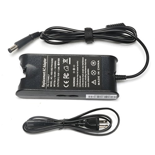 AC Adapter/Power Supply and Cord for Dell Inspiron Dell Inspiron 1420 1501 1520 1521 1525 6000 6400 300M 500M 505M 600M 640M 700M 710M E1405 E1505 [19.5V 3.34A 65W] Inspiron 1501 Power Cord