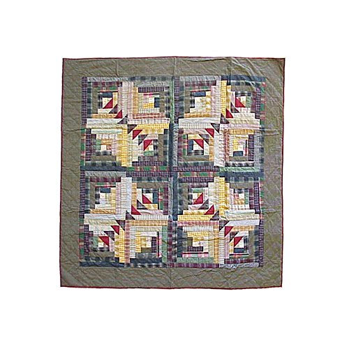 Patch Magic 50-Inch by 60-Inch Wild Goose Log Cabin Throw