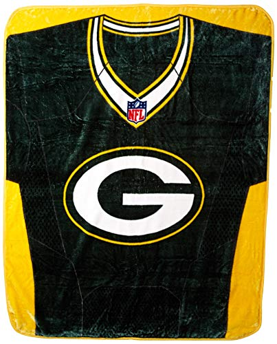 (NFL Green Bay Packers Royal Plus Raschel Throw, One Size, Multicolor)