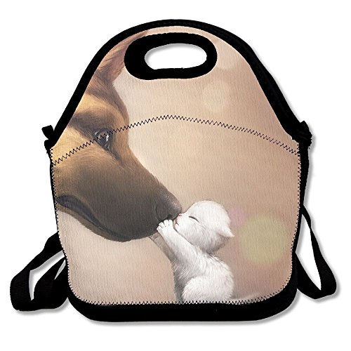 Sunmoonet Lunch Bag, Large Lunch Bag, Adult Fresh Lunch Bag For Kids Teens, Anime Cute Dog Cat Baby Animals by Sunmoonet