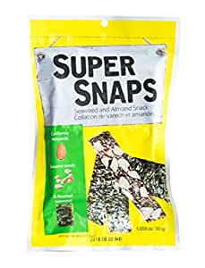 SuperSnaps Roasted Seaweed and Almond Snack (5 Pack)