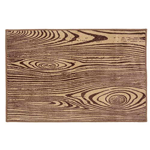 - Black Forest Decor Wood Grain Bath/Kitchen Rug