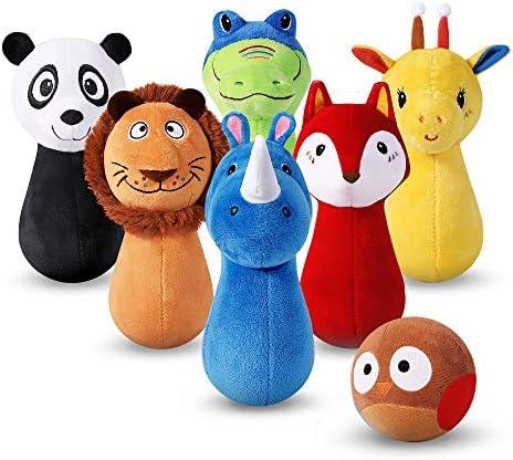 iPlay iLearn Stuffed Bowling Giraffe product image