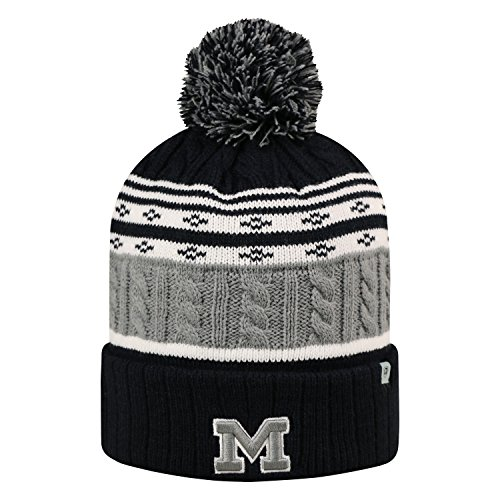 Top of the World Michigan Wolverines Official NCAA Cuffed Knit Altitude Beanie Stocking Stretch Sock Hat Cap by (Michigan Wolverines Stocking)
