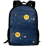 CRSJBB219 Solar System Canvas Bookbags School Backpack Laptop Schoolbag for Teens Girls Boys High School
