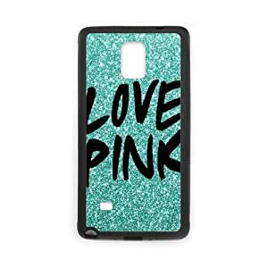 YNACASE(TM) Love Pink Personalized Hard Back Cover Case for Samsung Galaxy Note 4,Custom Phone Case with Love Pink