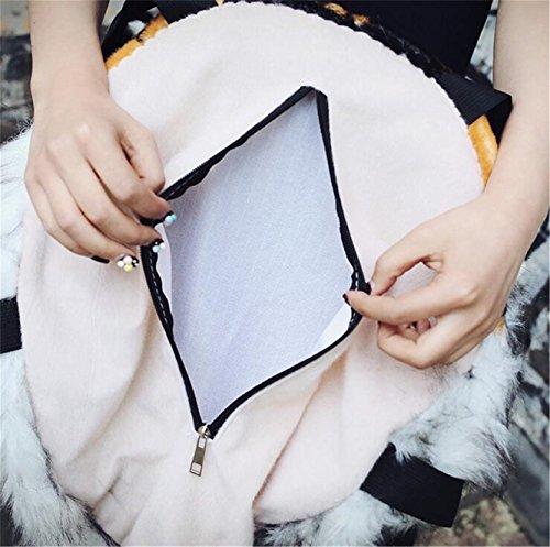 backpack shoulder 3D head bag simulation tiger personalised Domineering shoulders stuffed head Animal White Bag dcg4Upq