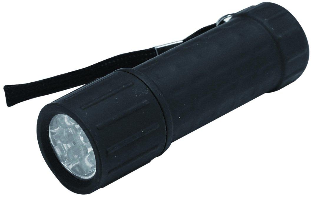 Hilka 82010920 9 LED Gummi beschichtete Mini-Taschenlampe Display, schwarz Hilka Tools (UK) Ltd