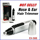 Hubry(TM) Quaility Electric Nose and Ear Hair Trimmer Shaver Cleaner Super Shaver Clipper for Mens Boys Waterproof
