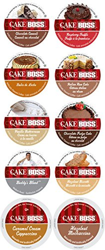 10 Cup Cake Boss® Sampler! 10 Varieties! Cappuccino & Mochaccino Plus coffee!! 2.0 Compatible. (Keurig Vue Cups Cappuccino compare prices)