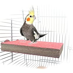 Colorful Wood Bird Perch Stand Platform Toy Playground Paw Grinding Clean for Pet Parrot Macaw African Greys Budgies Parakeet Conure Hamster Gerbil Rat Mouse Cage Accessories Stands Exercise Toy