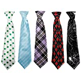 Bundle Monster 5pc Mix Design Boys Formal Pre-Tied Polyester Neckties - Set 6, Lucky You