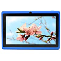 Yuntab 7'' Q88 Allwinner A33, Quad Core Google Android 4.4 Tablet PC MID, Dual Camera, 4GB Nand Flash, Google Play Pre-load, 3D Game Supported(Blue)