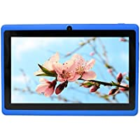 Yuntab 7 Q88 Allwinner A33, Quad Core Google Android 4.4 Tablet PC MID, Dual Camera, 4GB Nand Flash, Google Play Pre-load, 3D Game Supported(Blue)