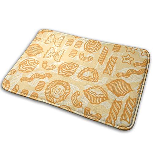 Kui Ju Non-Slip Doormat Entrance Rug Fade Resistant Floor Mats Orange Food Pattern Shoes Scraper 23.6x15.7x0.39Inch]()