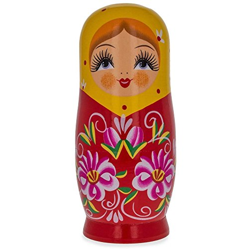 BestPysanky Matryoshka Wooden Russian Nesting Doll Piggy Bank 6.5 Inches
