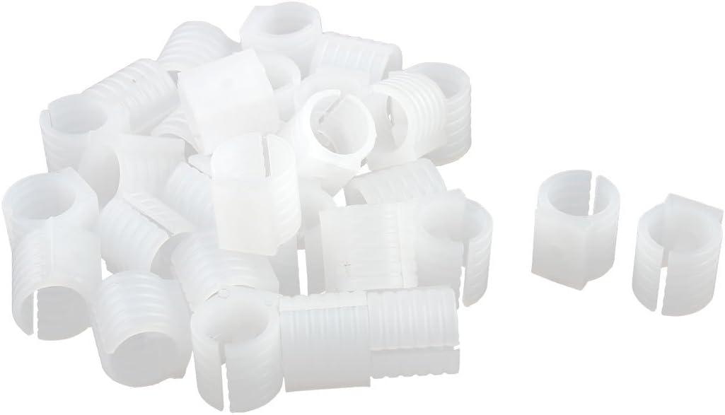 Sourcingmap Forme U Plastique Tuyau Chaise Pied Glisse Plaquettes Collier Caps Blanc 19mm Diam/ètre Fit 30pcs