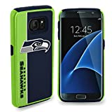 Forever Collectibles Dual Hybrid BOLD Series Case for Samsung Galaxy S7 Edge - NFL Seattle Seahawks