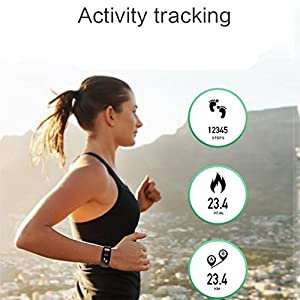 LL-ECG Smart Band 0.96 inch Screen Heart Rate Blood Pressure Sleep Monitor Smart Wristband with Call SMS Reminder Thermometer , green