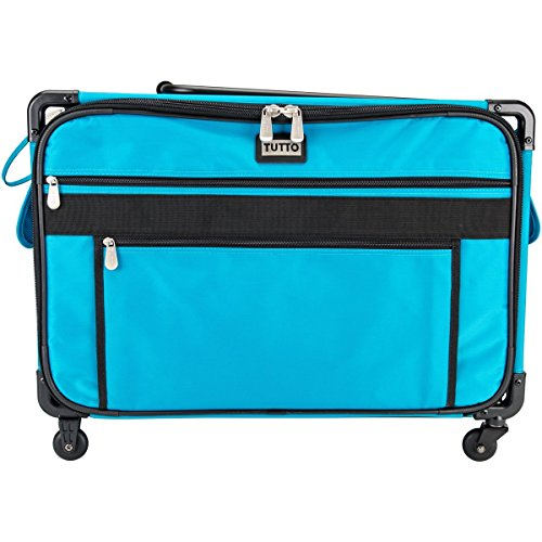 Tutto 9224TMA Turquoise Sewing Machine on Wheels Case, 25 by 18.5 by 13, ()